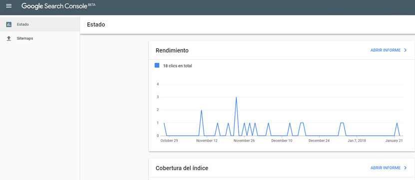 nueva version search console
